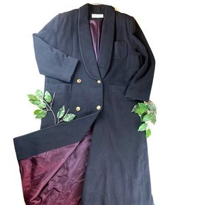 VTG Christian Dior Long Trench Over Coat Button up